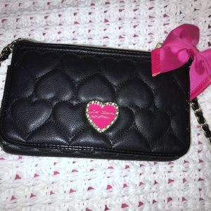 Betsy Johnson quilted heart crossbody